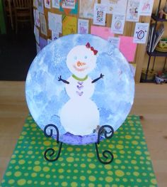 Snowman Plate Painted Using Contact Paper #winter #colormemineboulder