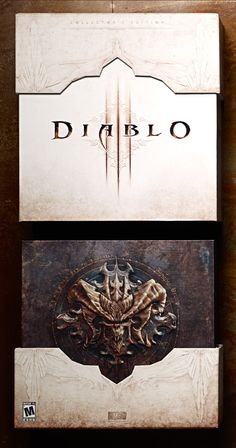 Diablo III Collector's Edition Box on Packaging Design Served Print Design, Logo Design, Music Album Covers, Fantasy Artwork, Graphic Design Typography, Texture, Game Art, Creative Design, Decoration