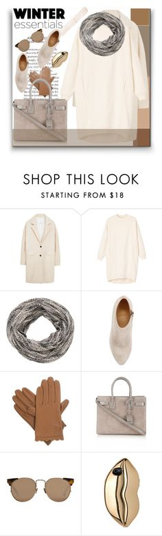 """""""Um it's pretty chilly today!"""" by guruhunter on Polyvore featuring MANGO, Monki, maurices, Christian Louboutin, Isotoner, Yves Saint Laurent, Linda Farrow and STELLA McCARTNEY"""
