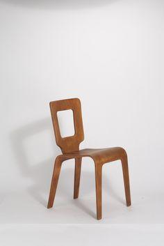 Herbert von Thaden / Donald Lewis Jordan, Stuhl aus geformten Schichtholz (1947)