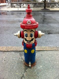 Mario Fire Hydrant? via Reddit user TheStandingDesk #Mario #Gaming #fun
