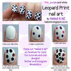 Nailed It NZ: Nail art for short nails #8 - White leopard print nail art