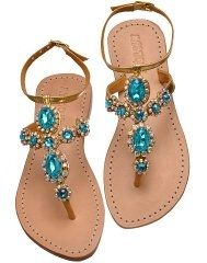 Jeweled Leather Sandals for Women Pretty Sandals, Cute Sandals, Rhinestone Sandals, Beaded Sandals, Mystique Sandals, Leather Sandals Flat, Flat Sandals, Shoes World, Jeweled Sandals