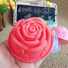Madeleine subiu silicone molde do bolo bolo de ferramentas de cozimento moldes de pão de pastelaria moldes(China (Mainland))