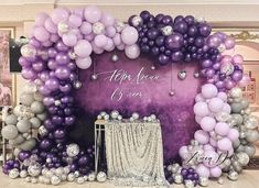 Quinceanera Party Planning – 5 Secrets For Having The Best Mexican Birthday Party Ballon Arch, Balloon Backdrop, Balloon Wall, Balloon Garland, Balloon Decorations, Birthday Party Decorations, Baby Shower Decorations, Birthday Parties, Purple Party Decorations