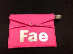 Wallet of felt. Made by Mooyz #felt wallet