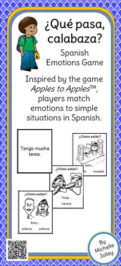 Students practice emotions with ESTAR and TENER in a fun, easy-to-learn game format!