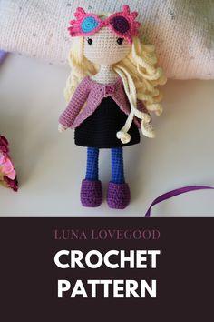 Crochet Dolls Free Patterns, Crochet Doll Pattern, Free Crochet, Crochet Hats, Crochet Doll Dress, Crochet Doll Clothes, English Clothes, Clothes Patterns, Crocheting
