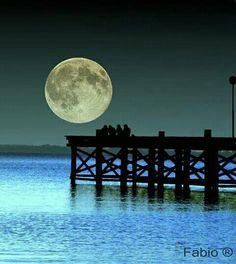 Full moon once in a blue moon Stars Night, Good Night Moon, Ocean Night, Beautiful Moon, Beautiful World, Beautiful Places, Moon Dance, Shoot The Moon, Moon Shadow