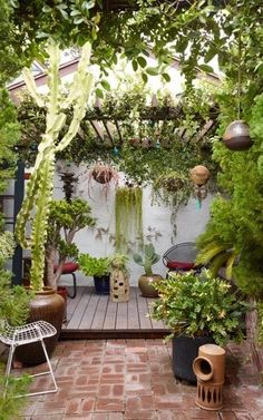 The house that Disney built: inside the fairy-tale cottage home of a cult LA designer Small Courtyard Gardens, Small Backyard Gardens, Backyard Patio Designs, Small Backyard Landscaping, Small Gardens, Small Garden Canopy, Patio Ideas, Outdoor Garden Rooms, Outdoor Gardens