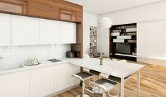 #monolocale #tinyhouses #spaziridotti Studio Apartment Design, Home Studio, Apartment Interior, Mezzanine Bed, Apartment Makeover, Stylish Kitchen, Small Studio, Bed Plans, Kitchen Cabinets