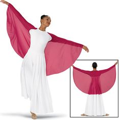 Shrug with Flowing Crepe Wings; Spiritual Expressi