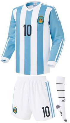 e8f60880b MESSI 10 2015 2016 Argentina Soccer Jersey   Shorts Youth Sizes 5 Brand New…