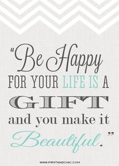Inspirational Quote for women from First & Chic Blog. Feel beautiful every