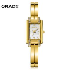 New Brand Grady fashion 18k Gold-plated women watches 3atm waterproof  ladies Quartz Watch Women Wristwatches relogio masculino