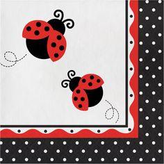 Ladybug Fancy Lunch Napkins, 3-Ply (192/case)