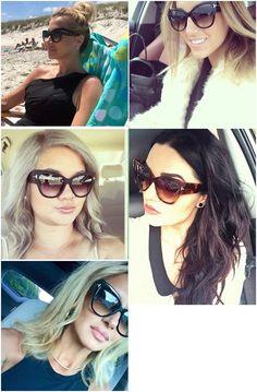 d5eff3c563 Hindfield for Womens Black Gradient Cat Eye Sunglasses Women Vintage  Lunettes Oculos Feminino De Sol Espelhado