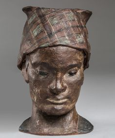 Paul Gauguin, Portrait-Head in unglazed Stoneware of Martinique Woman with Kerchief, unglazed stoneware, decorated with slip, x 13 x cm. Paul Gauguin, Rock Hall Of Fame, Art Quiz, Impressionist Artists, European Paintings, Degas, Post Impressionism, Art Institute Of Chicago, First Art