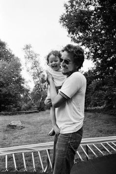 Bob Dylan and daughter, Anna  Photographed by Elliott Landy