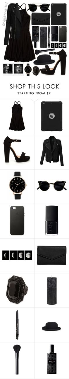 """""""bride with a black veil"""" by helloimweird13 ❤ liked on Polyvore featuring Hollister Co., LE3NO, Olivia Burton, NARS Cosmetics, LULUS, Dsquared2, DAY Birger et Mikkelsen, Too Faced Cosmetics, Comme des Garçons and Alaïa"""