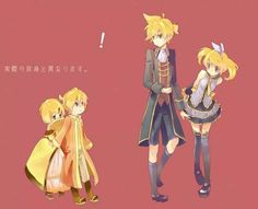 Rin and Len (Servant of Evil & Daughter of Evil) Older & Younger style