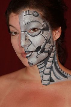 Great face | http://paintbodyideas.blogspot.com