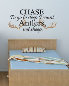 To Go To Sleep I Count Antlers Not Sheep by DavisVinylDesigns, $23.00