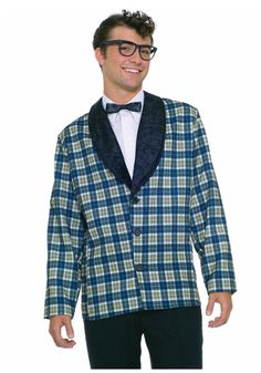Perfect for channelling your inner Buddy Holly, this Plaid Sport Coat Costume for men has a great look. You can also use it for a tribute band costume or any nifty fifties themed event. Costume Homme Vintage, Retro Costume, Adult Costumes, Costumes For Women, 1950s Costumes, Group Costumes, Men's Costumes, Woman Costumes, Couple Costumes