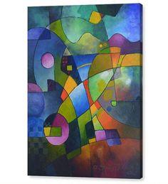 Impresiones del giclee sobre lienzo de mi original pintura