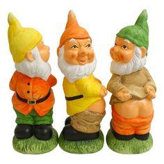 Naughty Gnome Funny Garden Ornament