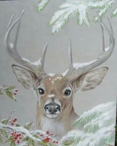 What is Your Painting Style? How do you find your own painting style? What is your painting style? Christmas Deer, Vintage Christmas, Tole Painting, Painting & Drawing, Tole Decorative Paintings, Pintura Tole, Illustration Noel, Deer Art, Christmas Paintings