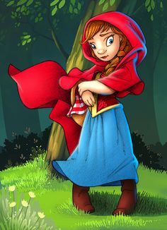 Little Red Riding Hood Art Portfolio, Red Riding Hood, Little Red, Disney Characters, Fictional Characters, Disney Princess, Fantasy Characters, Disney Princes, Disney Princesses