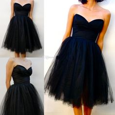 Custom Made Little Black Sweetheart Cocktail Party Dresses A Line Tulle Sexy Homecoming Dress Formal Short Bridesmaid Prom Gowns 2015 Cheap from Myweddingdress,$79.17 | DHgate.com