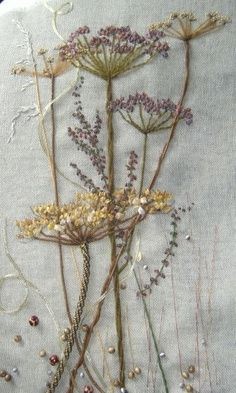 Love embroidered flowers