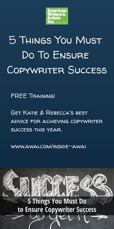 Get Katie & Rebecca's best advice for achieving copywriter success this year. Listen to this free training w/ AWAI >