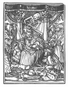 The Dance of Death -1538 book of woodcuts by Hans Holbein the Younger
