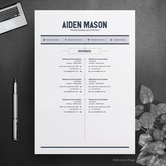 CV Resume Template Word 2 Page Resume Template Modern Modern Resume Template, Resume Template Free, Free Resume, Creative Cv Template, Resume Summary, Create A Resume, Job Employment, Good Resume Examples, Word Free
