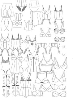 Ropa Interior                                                                                                                                                                                 Más Fashion Design Template, Fashion Pattern, Fashion Templates, Web Design, Lingerie Illustration, Illustration Mode, Design Illustrations, Flat Sketches, Flat Drawings