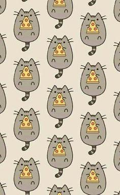 This Pusheen pattern is everything. More Dieses Pusheen-Muster ist alles. Wallpaper Gatos, Cat Wallpaper, Kawaii Wallpaper, Pattern Wallpaper, Cute Backgrounds, Wallpaper Backgrounds, Chat Pusheen, Chat Kawaii, Pc Photo
