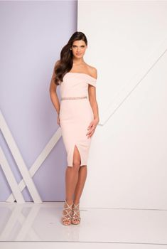 2e92e913783 gorgeous off the shoulder ruched gown with embellished belt. Mia Bella  Couture