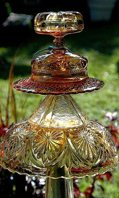 Glass garden ornament