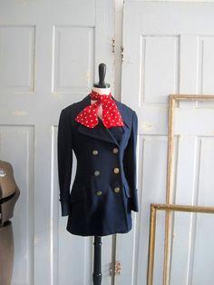 Vintage Navy Blue Jacket 1960s Jacket Double by SassySisterVintage, $48.00