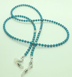 Your place to buy and sell all things handmade Azul Tiffany, Color Turquesa, Beaded Lanyards, Neck Chain, Eyeglass Holder, Beautiful Necklaces, Eyeglasses, Creations, Beaded Necklace