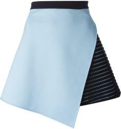 David Koma Asymmetric Mini Skirt in Blue