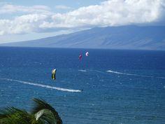 Windsurfers in Kaanapali Maui Hawaii