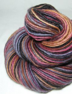 Handspun Yarn Gently Thick and Thin Single Blue Faced Leicester 'Heartbreak Hotel'
