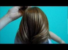 Easy Fancy Pulled Back Hairstyle for American Girl Dolls