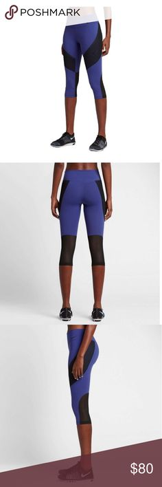 Nike Power Legendary Veneer Capris Find ultimate performance in the Nike Women's Power Legendary Veneer Capris. Nike Power fabric provides allover support and comfort for a range of activities. The capri-length style offers optimal coverage, while a mid-rise waistband stays in place as you move. Lower-leg mesh panels cool high-heat areas, pockets secure small items, and a drop-back yoke flatters your curves. Set yourself up for success in the Legendary Veneer Capris. Nike Pants Capris