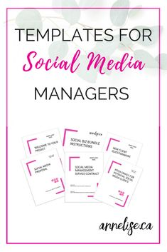 Templates for social media managers The Social biz Bundles includes Proposal T Facebook Marketing, Business Marketing, Internet Marketing, Online Marketing, Digital Marketing, Seo Marketing, Marketing Ideas, Business Tips, Social Media Services