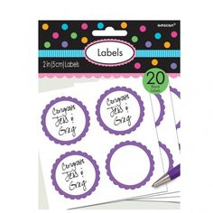 Purple Labels | Party Labels | Party Tags | Purple Party Supplies available at www.buildabirthday.co.nz